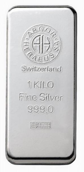 Silberbarren 1000 Gramm von Heraeus