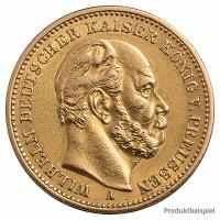 Goldmünze 20 Mark Kaiserreich - Vorderseite