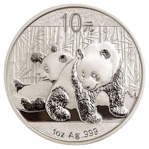 Silbermünze - Panda 1 Unze - China - Vorderseite