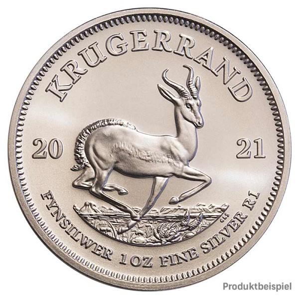 1 Unze Krügerrand Silbermünze - Südafrika - Rückseite | Beispiel
