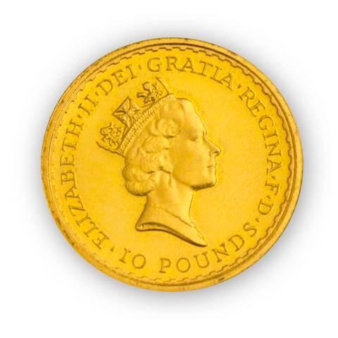 Goldmünze - Britannia 1/10 Unze - Großbritannien