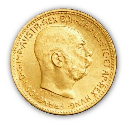 Goldmünze - 10 Kronen Austria - Österreich | Beispielbild