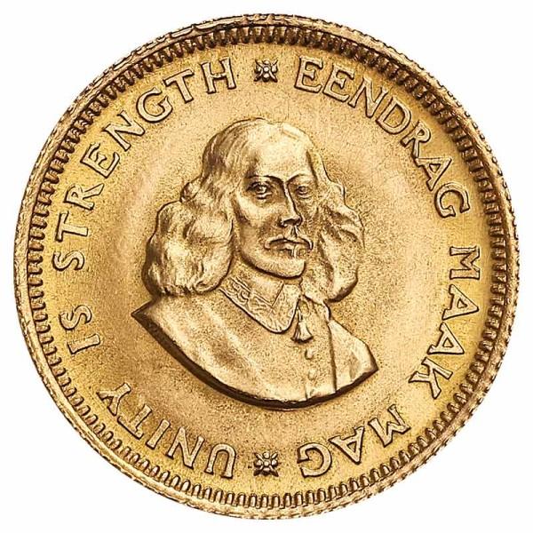 1 Rand Goldmünze - Südafrika - Vorderseite | Beispielbild