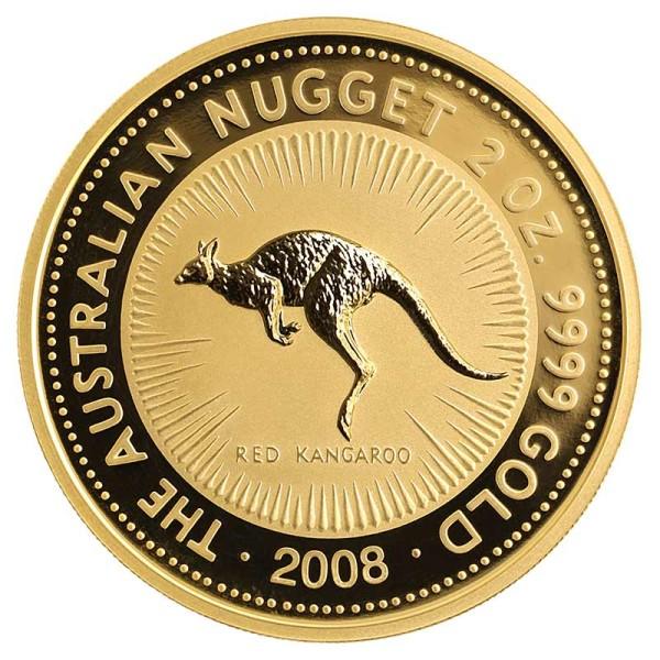 Kangaroo 2 Unzen Goldmünze - Australien - Vorderseite
