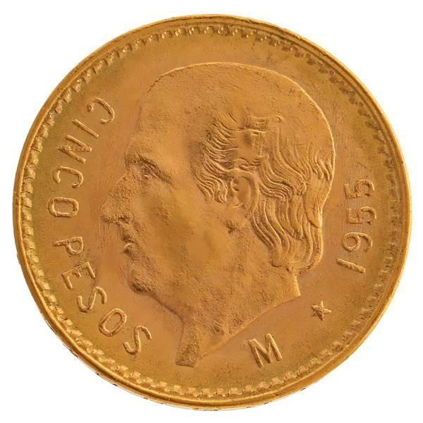 Goldmünze - 5 Pesos - Mexiko   Beispielbild