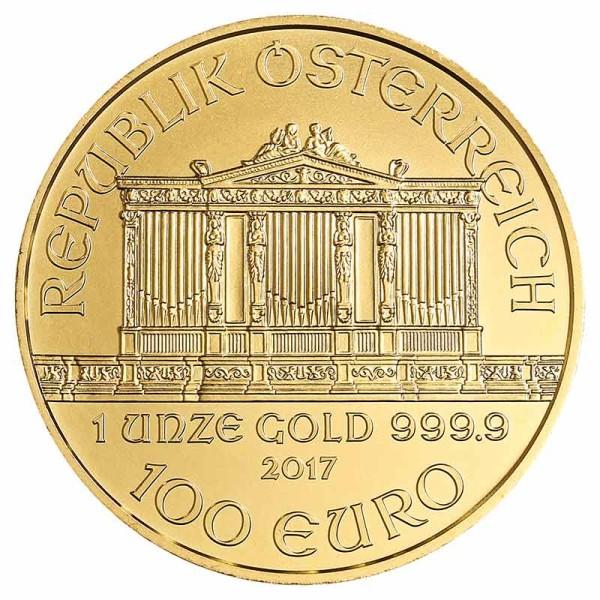 1 Unze Philharmoniker Goldmünze - Österreich - Vorderseite