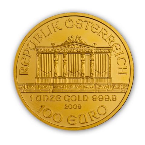 Goldmünze Wiener Philharmoniker 1 Unze