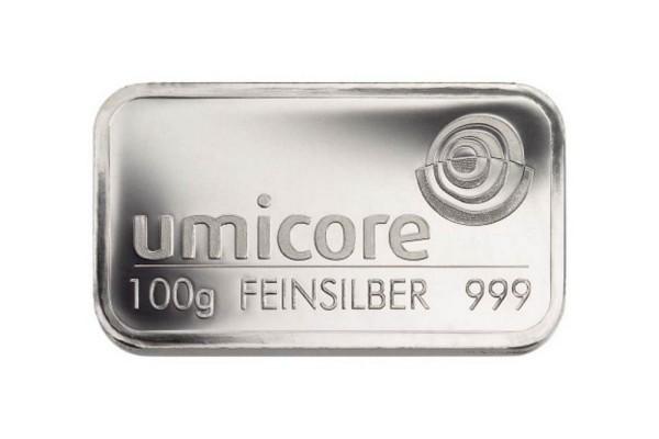 Silberbarren 100 Gramm von umicore