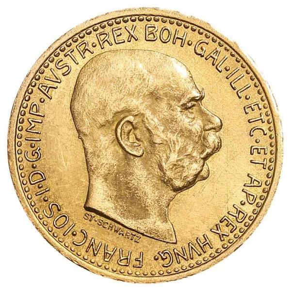 10 Kronen Goldmünze - Franz Joseph I - Austria - Österreich - Vorderseite