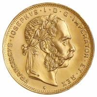 8 Florin Goldmünze - Franz Joseph I - Österreich - Vorderseite | Beispielbild