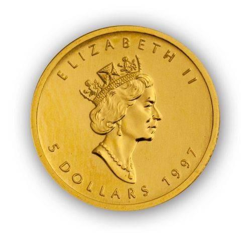 Maple Leaf Goldmünze Kanada 1/10 Unze | Beispiel