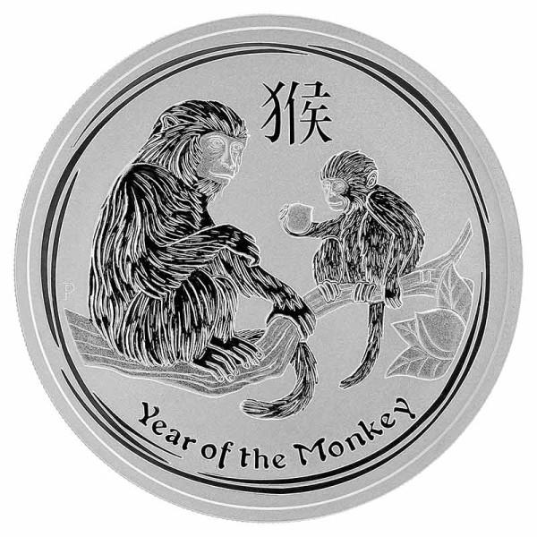 1 Unze Year of the Monkey - Affe Silbermünze Lunar Serie 2 - Australien - Vorderseite
