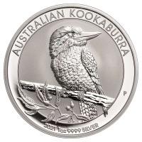 Silbermünze - Kookaburra 1 Unze - Australien - Vorderseite