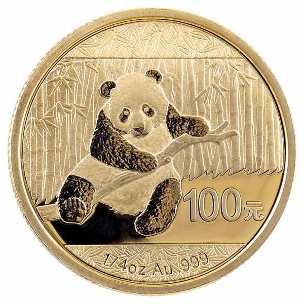 Panda 1/4 Unze Goldmünze - China - Vorderseite