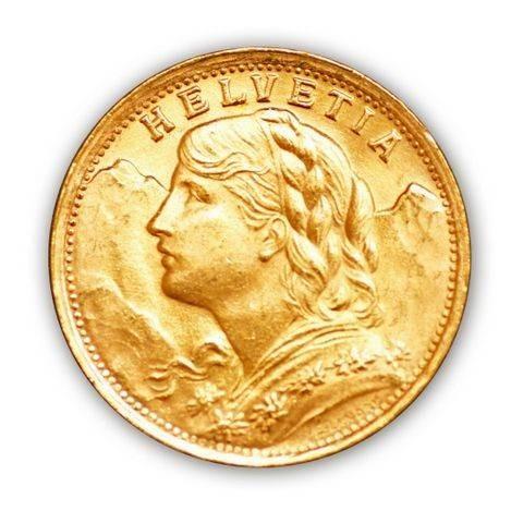 Goldmünze - 20 Franken Vreneli - Schweiz | Beispielbild