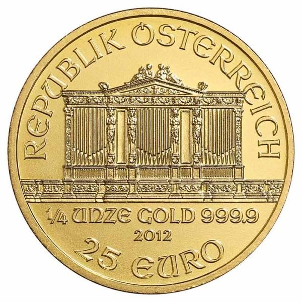 1/4 Unze Philharmoniker Goldmünze - Österreich - Vorderseite