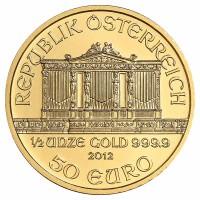 1/2 Unze Philharmoniker Goldmünze - Österreich - Vorderseite