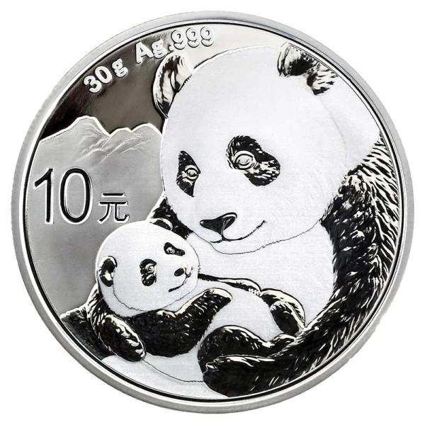 30g Panda Silbermünze - China - Vorderseite