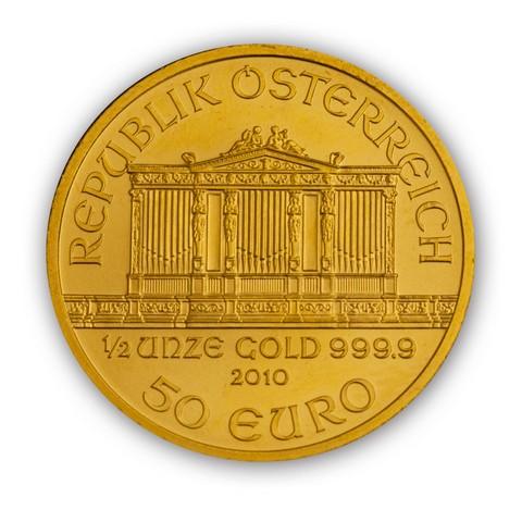 Goldmünze Wiener Philharmoniker 1/2 Unze