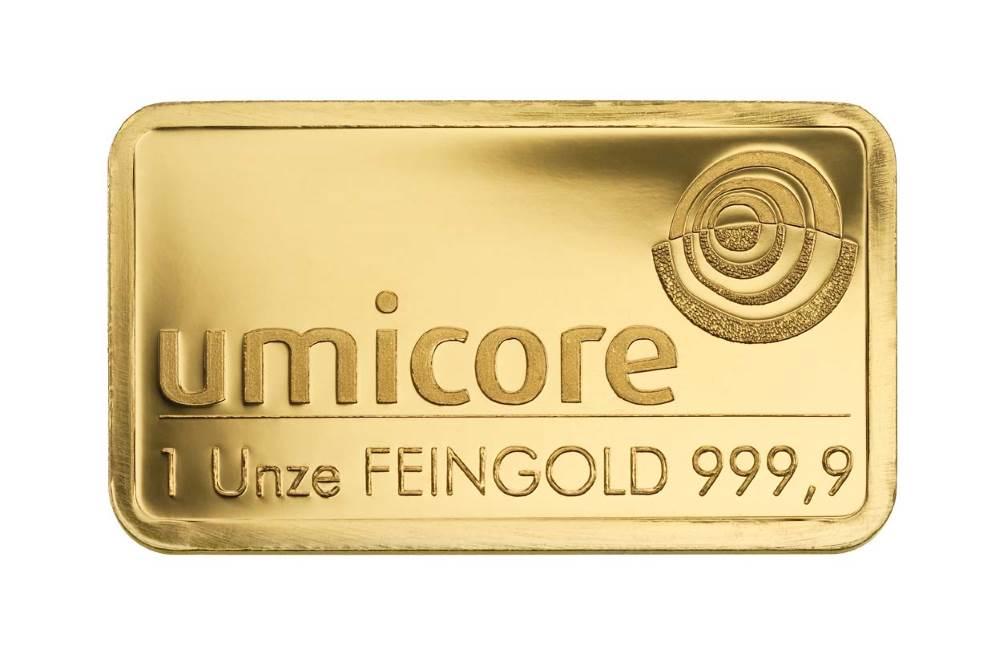 Goldbarren 31,1 Gramm - 1 Unze