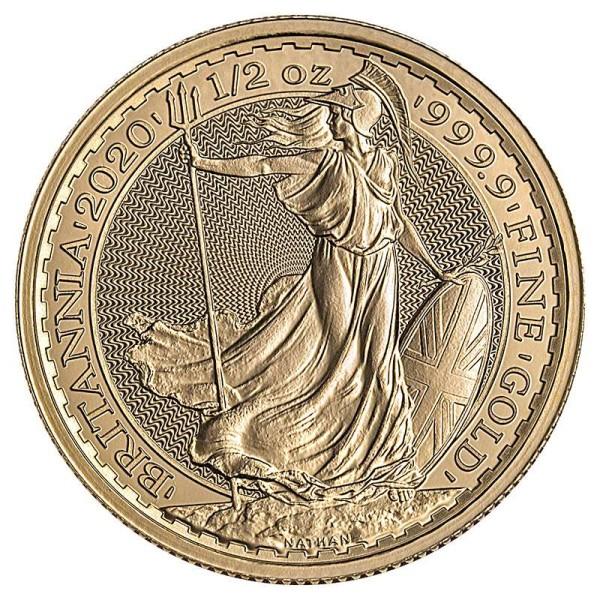 Goldmünze - Britannia 1/2 Unze - Großbritannien - Vorderseite