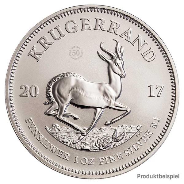1 Unze Krügerrand Silbermünze - Südafrika - Rückseite   Beispiel
