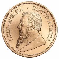 1 Unze Krügerrand Goldmünze - Südafrika - Vorderseite | Beispiel