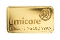 Goldbarren 1 Unze Feingold 31,1 Gramm | Beispielbild