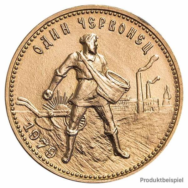 Goldmünze 10 Rubel Tscherwonez - Russland - Vorderseite   Beispielbild