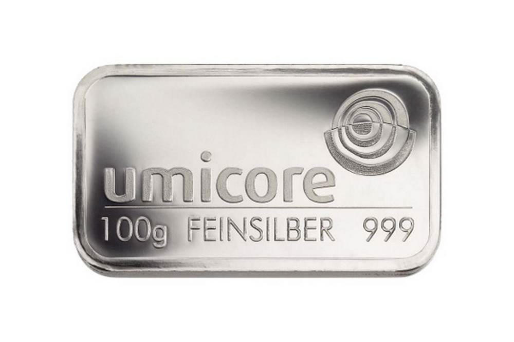 Silberbarren 100 Gramm