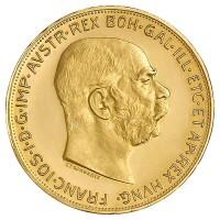 100 Kronen Goldmünze - Franz Joseph I - Austria - Österreich - Vorderseite  | Beispielbild