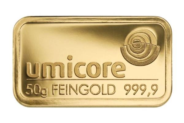 Goldbarren 50 Gramm Feingold | Beispielbild