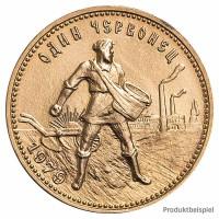 Goldmünze 10 Rubel Tscherwonez - Russland - Vorderseite | Beispielbild