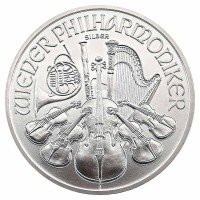 1 Unze Philharmoniker Silbermünze - Österreich - Vorderseite