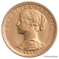 Goldmünze - 20 Pesos - Chile - Vorderseite   Beispielbild