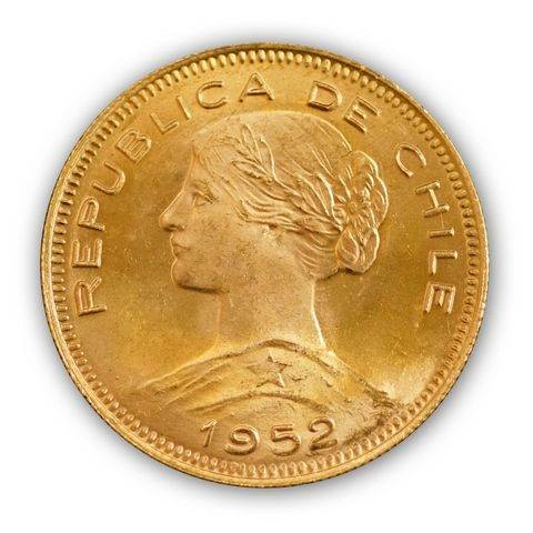 Goldmünze - 100 Pesos - Chile   Beispiel