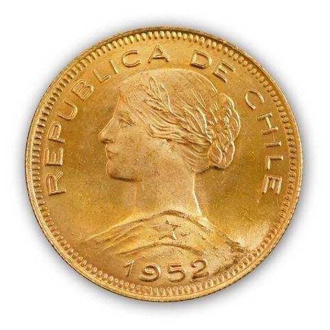Goldmünze - 100 Pesos - Chile