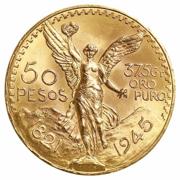 50 Pesos Goldmünze - Centenario - Mexiko - Vorderseite   Beispielbild