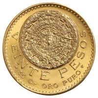 20 Pesos Goldmünze - Aztekenkalender - Mexiko - Vorderseite | Beispielbild