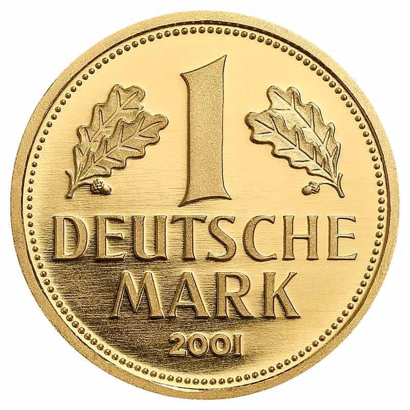 1 Deutsche Mark in Gold