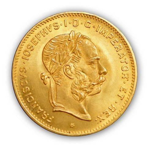 Goldmünze 4 Florin Kaiserreich Österreich   Beispielbild
