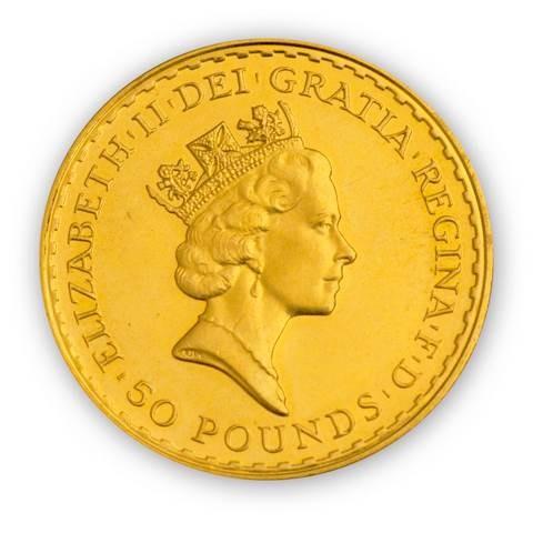 Goldmünze - Britannia 1/2 Unze - Großbritannien