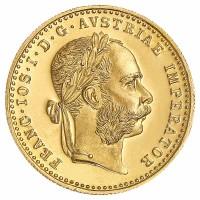 1 Dukat Goldmünze - Franz Joseph I - Österreich - Vorderseite | Beispielbild