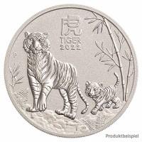 1 Unze Tiger Silbermünze - Australien - Vorderseite