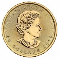 1 Unze Maple Leaf Goldmünze - Kanada - Vorderseite