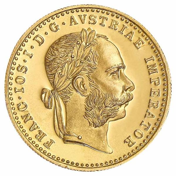 1 Dukat Goldmünze - Franz Joseph I - Österreich - Vorderseite