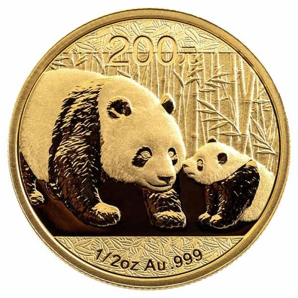 Panda 1/2 Unze - China - Vorderseite