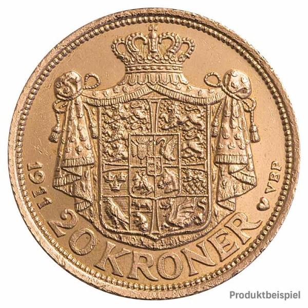 Goldmünze 20 Kronen Dänemark - Rückseite