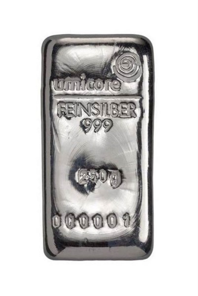 Silberbarren 250 Gramm von umicore