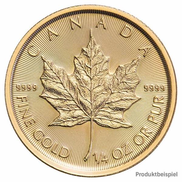 Goldmünze Maple Leaf Kanada 1/4 Unze Rückseite | Beispiel